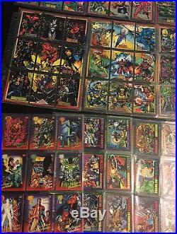 1993 Marvel Universe Series Complete 180 Card Set + Bonus Cards Skybox