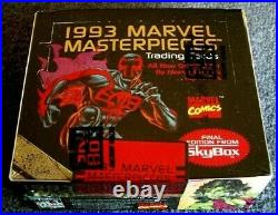 1993 SkyBox MARVEL MASTERPIECES Trading Cards Factory Sealed Box of (36) Packs