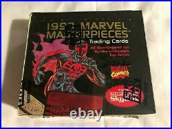 1993 SkyBox Marvel Masterpieces Trading Cards Factory Sealed Wax Box