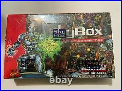 1993 SkyBox Marvel Universe Series IV (4) Factory Sealed Trading Cards Box