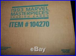 1993 Skybox Marvel Masterpieces Trading Cards Factory Sealed 20 Box CASE RARE