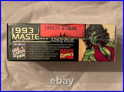 1993 Skybox Marvel Masterpieces Trading Cards Sealed Box 36 pack 340,838 350,000