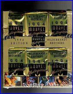 1994 Fleer Marvel Masterpieces Factory Sealed Jumbo Box 36ct. GOLD HOLOFOIL BONUS