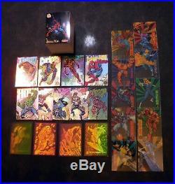 1994 Fleer Marvel Universe Master Set (200) + Inserts inc Holograms (23 cards) +