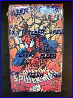 1994 MARVEL the AMAZING SPIDER-MAN fleer trading cards sealed box