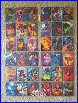 1994 Marvel Masterpieces, 1995 X-Men Trading Cards 2 Full Sets + 40 Chase Cards