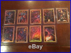 1994 Marvel Masterpieces BRONZE Holofoil Lot of 9 Near Set Missing 1 Spiderman +