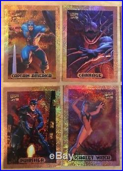 1994 Marvel Masterpieces Bronze Holofoil Insert Chase Set of 10 Cards Walmart EX