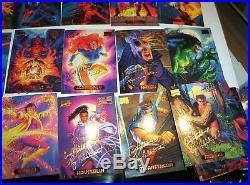 1994 Marvel Masterpieces Series 3 Gold Foil Signature Parallel 140 Card Set Rare