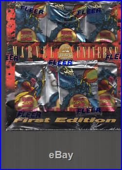 1994 Marvel Universe First Edition Factory Sealed Box 36 Jumbo Packs Very Rare
