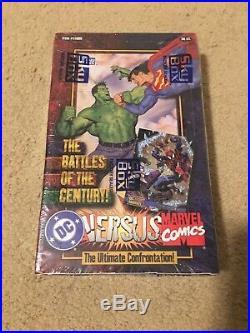 1995 DC Comics Versus Marvel Trading Cards SEALED BOX 36 Packs Inside! SkyBox