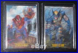1995 DC vs Marvel MIRAGE Insert Set of 2 Cards NM/M versus Spiderboy Dark Claw