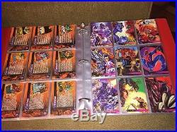 1995 FLAIR MARVEL ANNUAL Master Set Trading Cards Base 43 Insert Chrome Chase M