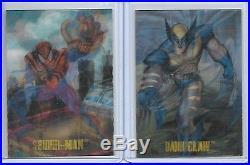 1995 FLEER SKYBOX MARVEL vs DC MIRAGE INSERT LE 2 CARD SET DARK CLAW SPIDER-BOY