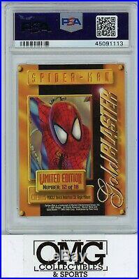 1995 Fleer Marvel Metal Gold Blaster Spiderman PSA 10 POP 2