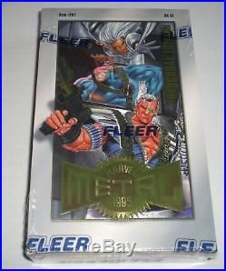 1995 Fleer Marvel Metal Inaugural Edition Trading Cards Factory Sealed Box