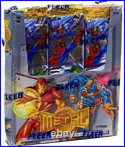 1995 Fleer Marvel Metal Trading Card JUMBO Box 24 Packs