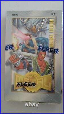 1995 Fleer Marvel Metal Trading Cards Factory SEALED UNOPENED BOX 36 Packs