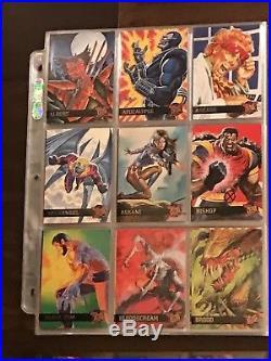 1995 Fleer Ultra Marvel X-Men With Inserts Chromium Base Set In Collector Binder