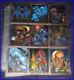 1995 Fleer Ultra X-Men Chromium GOLD SIGNATURE Parallel Set of 99 Cards, Marvel