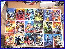1995 MARVEL MASTERPIECES SERIES IV 4 FLEER COMPLETE CARD SET #1-151 x-men VENOM