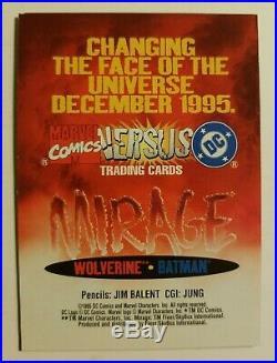1995 MARVEL Vs DC MIRAGE PROMO CARD Extremely Rare Wolverine-Batman