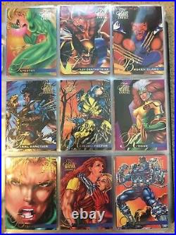 1995 Marvel Flair Annual Trading Cards COMPLETE BASE SET, #1-150 NM/M! Fleer