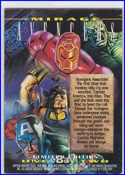 1995 Marvel Masterpieces Avengers MIRAGE Insert Card L1 RARE