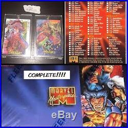 1995 Marvel Masterpieces Complete Set / MIRAGE / EMOTION / Holoflash / Canvas