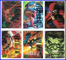 1995 Marvel Masterpieces EMOTION PARALLEL CHASE SET E-MOTION in SHEETS/BINDER