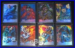 1995 Marvel Masterpieces HOLOFLASH Insert Set of 8 Cards NM/M, Venom