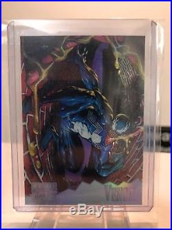 1995 Marvel Masterpieces Holoflash Insert Chase Set of 8 Cards Thanos Venom