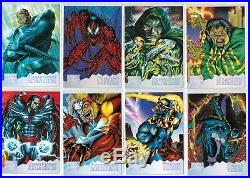 1995 Marvel Masterpieces Series IV 4 Foil Holoflash 8 Card Insert Chase Set