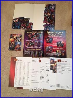 1995 Marvel Masterpieces Set Dealer Sell Sheet Promo Folder RARE