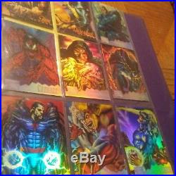 1995 Marvel Masterpieces Set Holoflash and Canvas free shipping