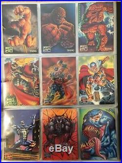 1995 Marvel Masterpieces Trading Cards COMPLETE BASE SET, #1-151 NM/M! Fleer