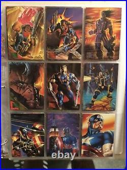 1995 Marvel Masterpieces Trading Cards COMPLETE BASE SET, #1-151 NO RESERVE