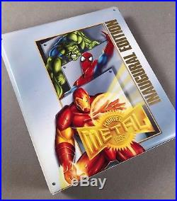 1995 Marvel Metal Inaugural Edition Complete 174-Card Set in Official Binder