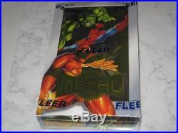 1995 Marvel Metal Trading Card Box Factory Sealed 36 Packs Marvel Comics Fleer