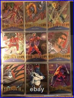 1995 Marvel Metal Trading Cards COMPLETE BASE SET, #1-138 NM/M! Fleer