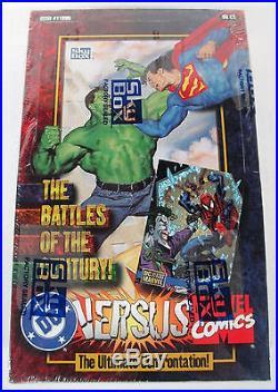 1995 Marvel Vs DC Versus Marvel Factory Sealed Hobby 36 Pack Box Rare