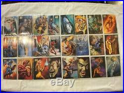 1996 Fleer/SkyBox Marvel Masterpieces Trading Card Set of 100 SEE DESCRIPTION