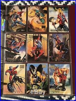 1996 Fleer/Skybox MARVEL MASTERPIECES COMPLETE 100 CARD BASE SET Boris & Julie