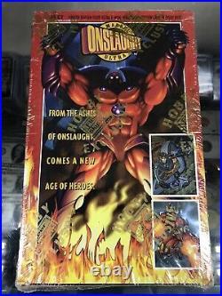 1996 Fleer Ultra Marvel Onslaught Trading Cards Sealed Box