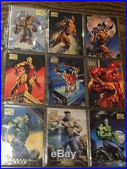 1996 Marvel Masterpieces COMPLETE BASE SET OF 100 CARDS MINT