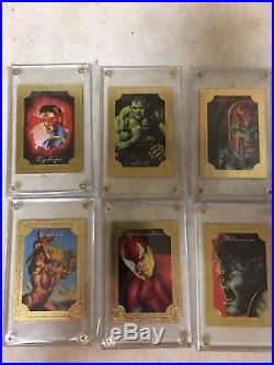 1996 Marvel Masterpieces Complete Base Double Impact Gallery Cards error