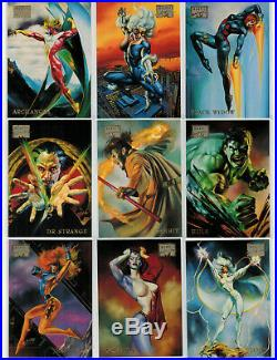 1996 Marvel Masterpieces Complete Master Card Set Gold Gallery Double Impact