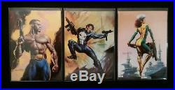 1996 Marvel Masterpieces Complete Set Base Gallery Double Impact