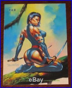 1996 Marvel Masterpieces DOUBLE IMPACT Psylocke/Punisher #2 Insert Card NM/M