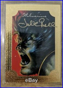 1996 Marvel Masterpieces Limited Edition Gold Foil set autograph Boris and Julie